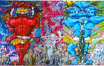 Red and Blue Demon w/ 48 arhats