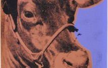 Cow 11A, 1966 screenprint on wallpaper 45 1/2 x 29 3/4 (authenticated on verso)